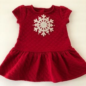 Gymboree Baby Girls Quilted Snowflake Dress Red